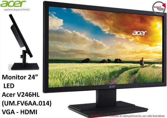 Monitor 24 Led Acer V246hl (um.fv6aa.014) Vga/hdmi