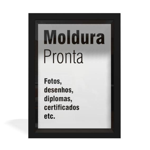 Kit 10 Moldura Certificado Diploma Foto C/ Vidro A4 21x30 Cm