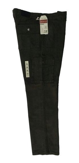 2 Pantalones Recto Tipo Cargo De Gabardina Para Hombre