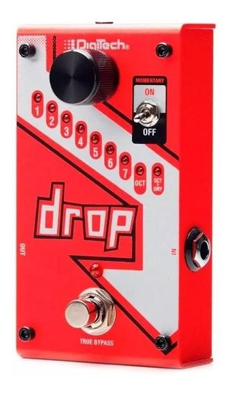 Pedal Digitech The Drop Polifônico P/ Guitarra C/ Fonte Pedaleira