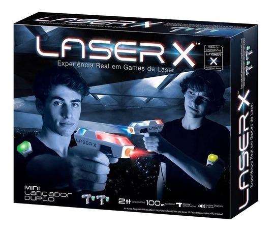 Jogo De Combate Laser X Mini Lançador Duplo - Sunny 1418