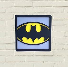 Quadro Batman 3d Super Herois Dc - Decoração Nerd