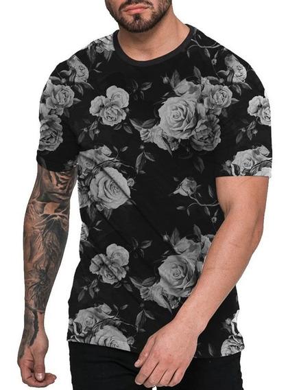 Camisa Camiseta Florida Preta Off White Black Floral