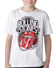 Camiseta Infantil Blusa Criança Rolling Stones Retro Boca Li