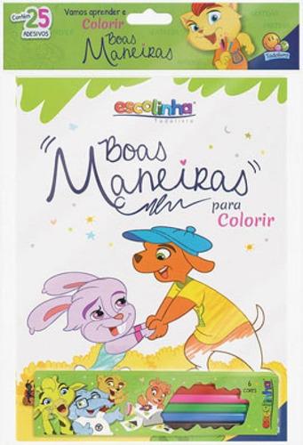 Imagem 1 de 1 de Escolinha Boas Maneiras Para Colorir - Kit Livro + Lápis De