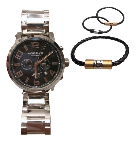 Relógio Montblanc Time Walker - Pulseira De Couro Autentico