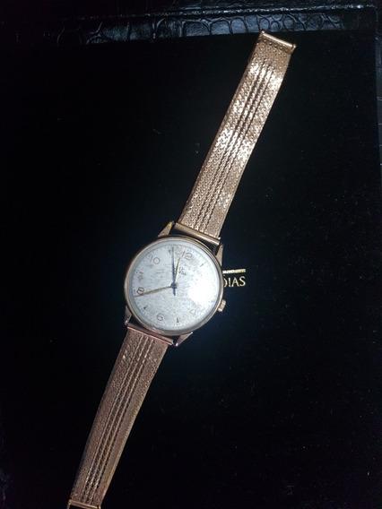 Relógio Omega, Todo Em Ouro 18kt