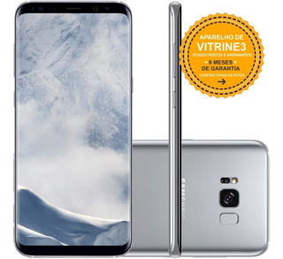 Samsung Galaxy S8 Plus G955f 64gb Dual 12mp Prata Vitrine 3