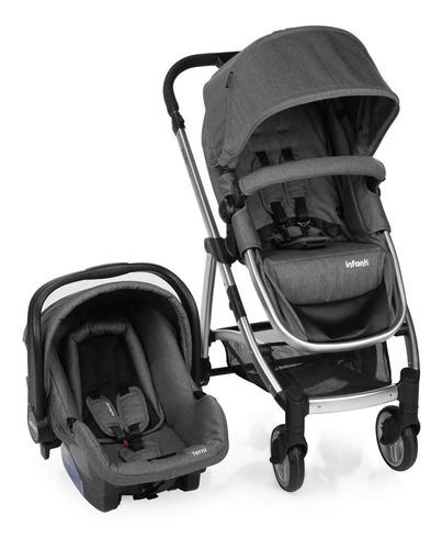 Carrinho Bebê Travel System Epic Trio Infanti Grey Com Base