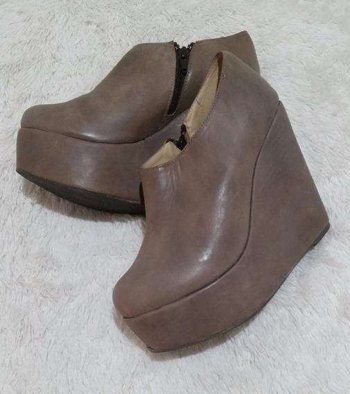 Bota Botineta Corta Zapato Mujer 40 Cuero Nuevo