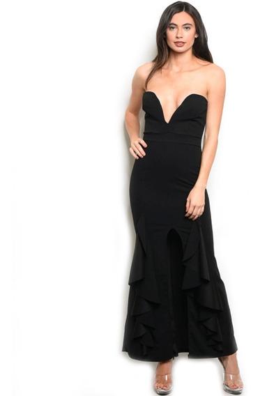Vestido De Fiesta Midi, Elegante, Boda, Sexy, Straple.