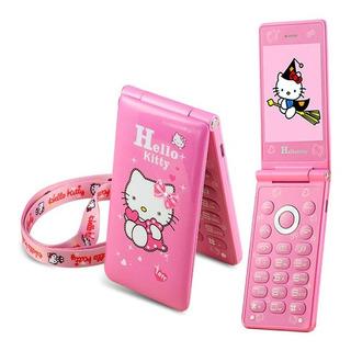 Celular Hello Kitty Con Reproductor De Musica Mp3 Y Radio