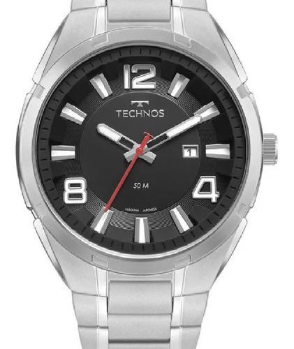 Relógio Technos Masculino Elegant Analógico Prata 2117lcz1p