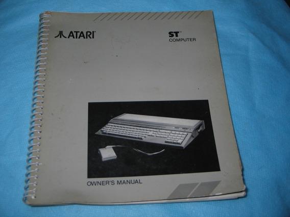 Manual De Uso Computador Antigo Atari St Ano 1986 Raro!