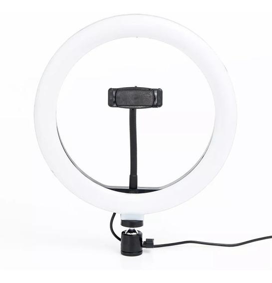 Iluminador Ring Ligth Anel Luz 26cm Com Tripé 1.60