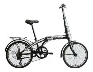 Bicicleta Plegable Rodado 20 Cambios Shimano Velocidades - Cuadro Reforzado - Llantas De Aluminio - Happy Buy + Regalo