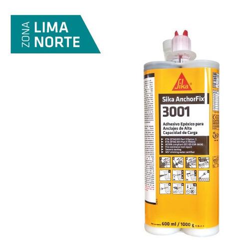 Imagen 1 de 3 de Adhesivo Epóxico Para Anclajes  Sika® Anchorfix-3001 600ml