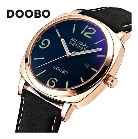Relógio Masculino Doobo D009 Pulseira Couro