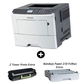 Impressora Monocromática Lexmark Multifuncional Laser+2toner