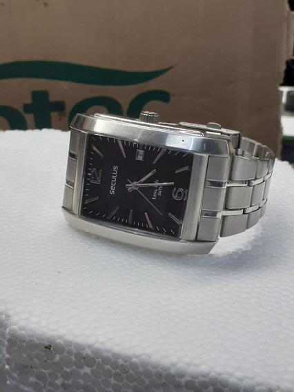 Relógio Seculus Quadrado Masculino Modelo 088