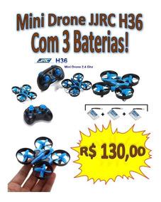 Mini Drone Jjrc H36 3 Baterias Quadricóptero Frete Gratis