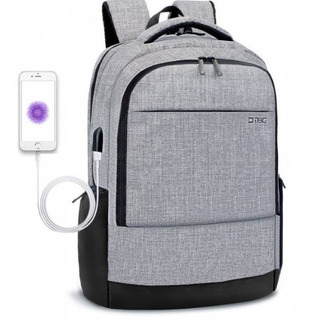 Mochila Para Laptop Portátil 17.3 Con Puerto De Carga Usb