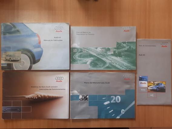 Manual Do Proprietário Audi A3 1.8 2005 (ler Descrição)