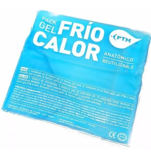 Imagen 1 de 4 de Compresa Pack Gel Frio Calor 13x13 Cm - Local Olivos