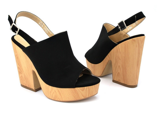 Zapato Plataforma Tipo Sueco De Meter En Nobuck 8 De Altura