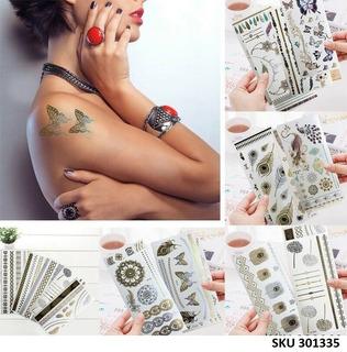 9 Hojas Tatuajes Temporal W01