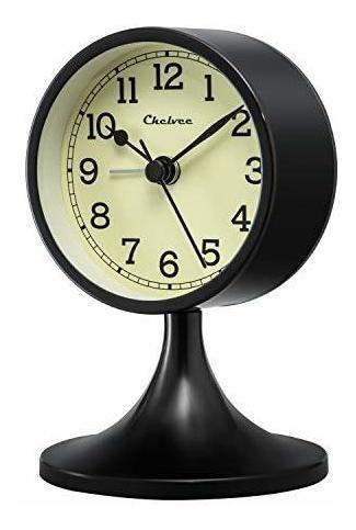 Chelvee(tm) 4  Doble Antiguo Bell Cuarzo Analógico Reloj