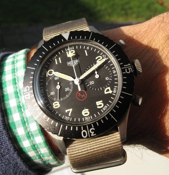 Tag Heuer Militar Model Inspirado Flyback 1960s Military 3h