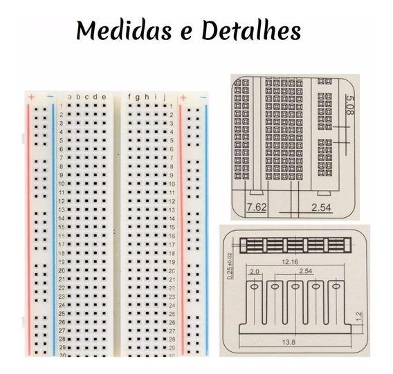 Matriz De Contato 830 Furos Montagem Prototipagem Eletrônica