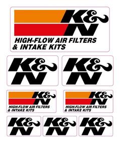 Kit Adesivo Capacete Moto Refletivo K&n Ca10853