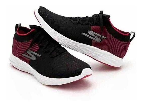 Tênis Skechers Go Run 6 Masculino Vermelho/preto