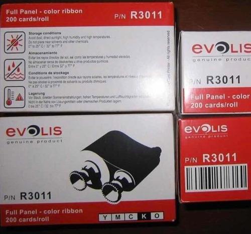Cinta Evolis R 3011 Ymck /200 Impresiones,nuevas