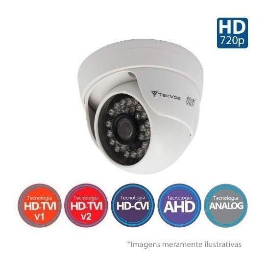 Camera Tecvoz Cftv 2.0 Dn228 -2mega Dome Flex Hd Ir 25m