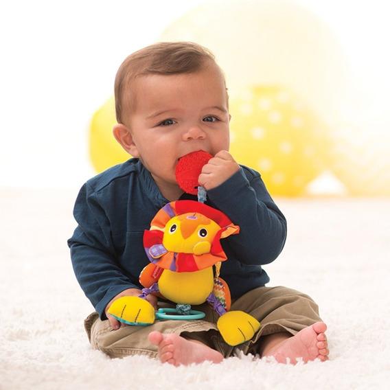 2 Brinquedos Bebê Infantino Importado Leão 0+ Minhoca 6+
