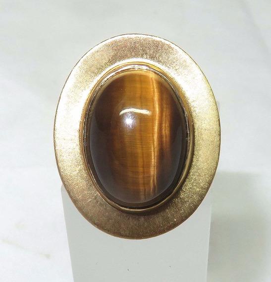 Pocao2005- Anel Ouro 18k750 Olho De Tigre, Carla Amorim 1055