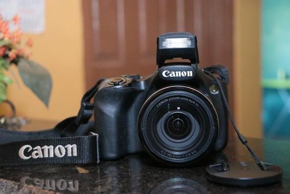 Câmera Canon Powershot Sx520 Hs Com Bolsa E Carregador Usado