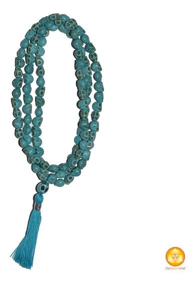 Rosario Budista, Japa Mala De Calaveritas Azules Chico