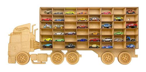 Imagen 1 de 8 de Exhibidor Coleccionador Repisa Trailer Camión Hot Wheels Mdf