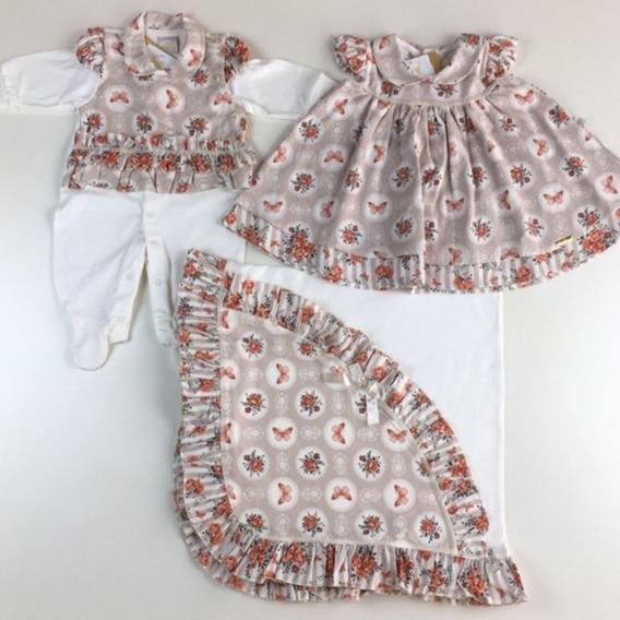 Kit Saida Maternidade Com Vestido