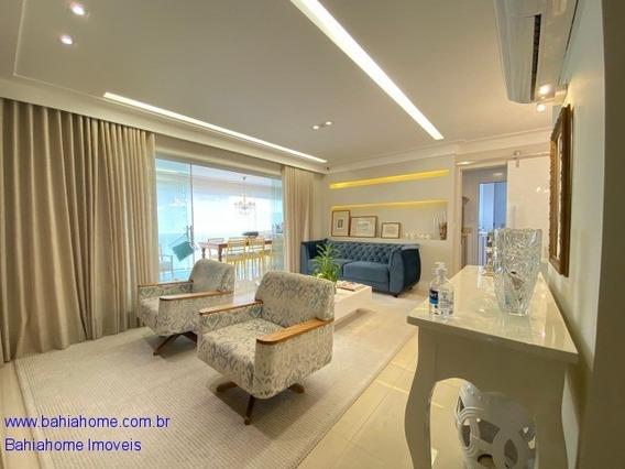 Apartamento Mobiliado Para Vender Em Patamares Com 130m² No Greenvile, 3 Quartos E 2 Suítes - Salvador Ba - Ap00876ces