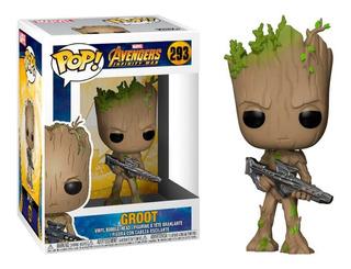 Funko Pop Marvel Avengers Infinity War Teen Groot With Gun