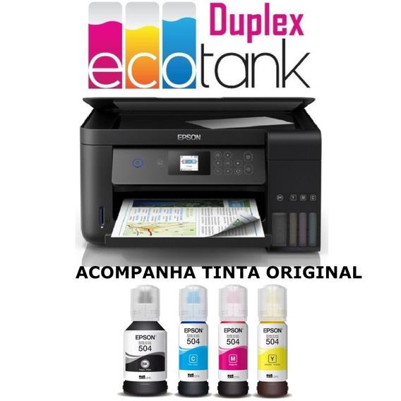 Impressora Multifuncional Epson Ecotank L4160 Frente/verso