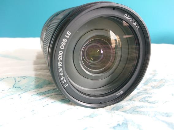 Lente Sony Sel 18-200mm Le Oss F/3,5-6,3 + Filtro Pol.
