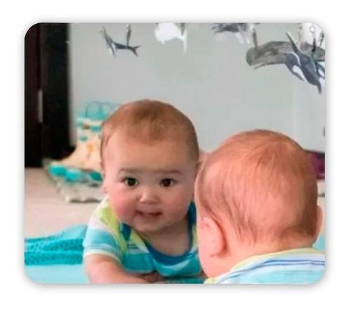 Espejo Acrílico Bebe Montessori Niños Irrompible 90x60 Marco