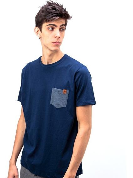 Remera Vicus Pocket Azul Marino