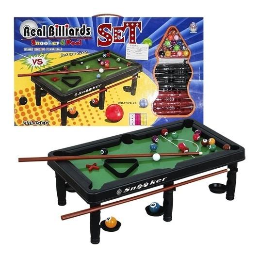 Mesa De Sinuca Bilhar Infantil Snooker Para Criança Portatil
